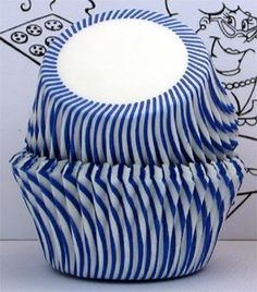 Goldas Kitchen Baking Cups - Stripe - Blue *** Unbelievable offers are coming! : Baking Accessories