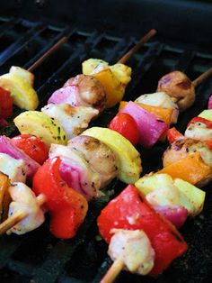 Grilled Chicken and Veggie Skewers | Our Best Bites