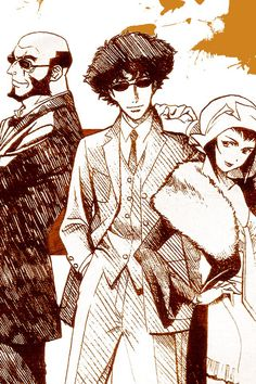 Cowboy bebop cool drawing style