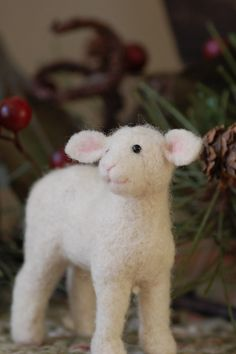 a well shaped lamb follow the link for some wonderful needle felted animals