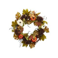 Pumpkin Wreath (£49) ❤ liked on Polyvore featuring home, home decor, holiday decorations, pumpkin wreath, pumpkin home decor, sur la table, thanksgiving wreaths and handmade wreaths