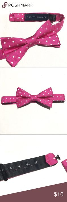 Tommy Hilfiger Pink Polka-dotted Bow Tie New without tags. Add a little pop of color with this adjustable bow tie. Tommy Hilfiger Accessories Ties