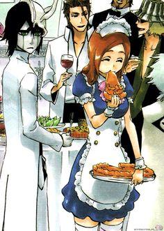 Ulquiorra and Orihime Ulquiorra And Orihime, Orihime Bleach, Kuchiki Rukia, Bleach Manga, Bleach Fanart, Manga Art, Manga Anime, Anime Art, Shinigami