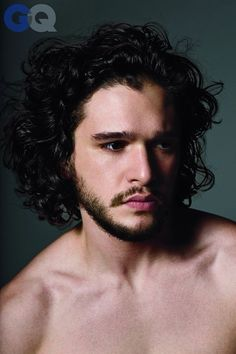 When Kit Harington did this shirtless photo shoot. Description from…