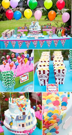 Entire 'Up' birthday party and cake. Amazing.