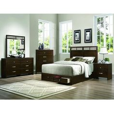 @Overstock.com - Dash Warm Espresso Storage Bedroom Set of 5 - Makeover your bedroom with this beautiful bedroom set. Complete with a bed, night stand, dresser, chest and mirror, this bedroom set would give your bedroom a classy and chic look.  http://www.overstock.com/Home-Garden/Dash-Warm-Espresso-Storage-Bedroom-Set-of-5/8473644/product.html?CID=214117 $1,649.99