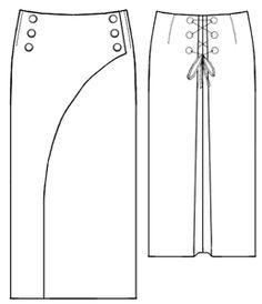 example - #5267 Stripe skirt