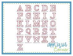 Bradford Applique Font - Applique Corner