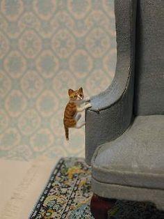 OOAK-Curtain-Climber-Kitten-Cat-By-IGMA-Artisan-Teresa-Summers