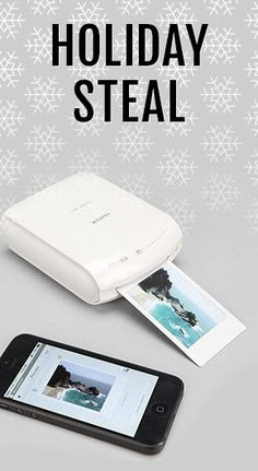 Black Friday Steal - Shop all Gifts for Him including this smartphone printer                                                                                                                                                     More