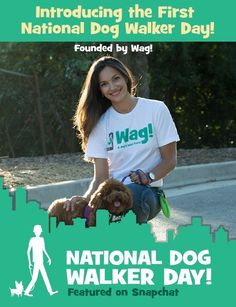 September 8 is the first annual National Dog Walker Appreciation Day, founded by Wag!, the on-demand dog walking app. Wag Dog Walking, Walking App, Dog Walking Business, Go The Extra Mile, Dog Owners, Dog Training, Appreciation, Pup, September 8