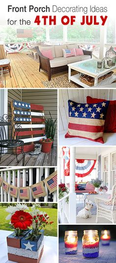 Front Porch Decorating Ideas for the 4th of July • Tons of ideas, tutorials & projects!