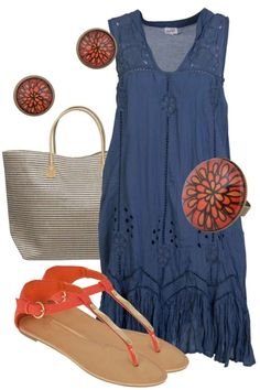 Daisy Outfit includes Adrift (dress), Nest Of Pambula (jewellery), and Milk & Sugar (bag) - Birdsnest - could wear short sleeve or LS T-shirt under dress if cooler or need to hide 'tuckshop lady' arms.