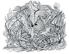 Black and White by Irina Vinnik, via Behance