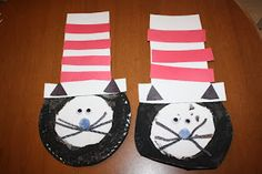 Happy Birthday Dr. Seuss!! Great Cat in the Hat craft with paper plates
