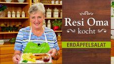 Resi Oma kocht - Erdäpfelsalat - YouTube Wiener Schnitzel, Bbq, Youtube, Breakfast, Food, Austria, German Recipes, Kaiserschmarrn, Potato Salad