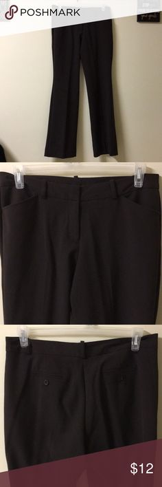 Chocolate Brown Dress Pants Very comfortable and stretchy. Look great on. Not too tight. Looks great with a pair of nude heels or boots. Worthington Pants Trousers