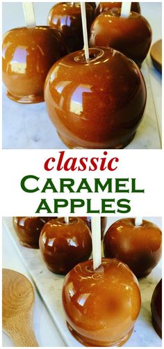 Caramel Apples Recipe - Peter's Food Adventures Caramel Apples are a family autumn favorite, perfect for halloween and parties. An easy fall classic the whole family will love - Kraft Caramel Apples Kraft Caramel Apple Recipe, Caramel Apples, Caramel Apple Recipe Without Corn Syrup, Apple Recipes Video, Partys, Candy Apples, Fall Recipes, Delicious Recipes, Pumpkin Recipes