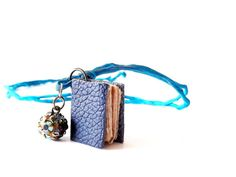 Book necklace charm