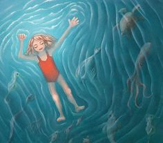 Reminds me of C. Water Water, Fresh Water, Scary, Creepy, Sea Captain, Sea Monsters, Children's Books, Artsy Fartsy, Cool Kids