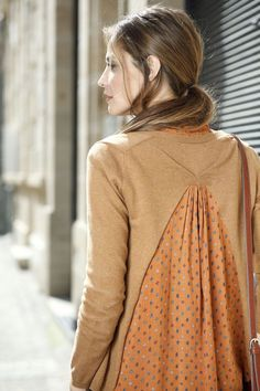 Great restyle idea for extending the back of tight tops..beautiful.