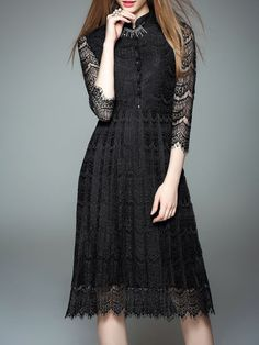 DDER - Pierced Lace Midi Dress $72 How about it?