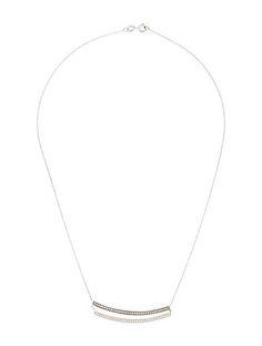 14K Diamond Double Bar Neck Necklace