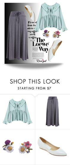 """rosegal.com 78"" by k-lole ❤ liked on Polyvore featuring Loewe, Summer, summertime, women, fashiontrend and styleicon"