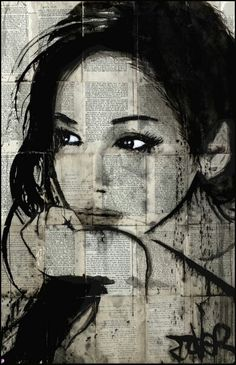 Loui Jover (born April is an Australian painter and artist. Loui Jover is . Loui Jover (born April is an Australian painter and artist. Loui Jover is known for his artwork which focuses on Ink Wash Paintings superimposed with Portrait Au Crayon, L'art Du Portrait, Pencil Portrait, Woman Portrait, Journal D'art, Journals, Newspaper Art, Newspaper Painting, Ink Painting