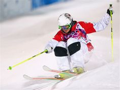 DAY 2:  Maxime Dufour-Lapointe of Canada competes in the Ladies' Moguls Final