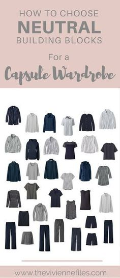 This all comes together so well - navy and grey is a really seasonless, timeless color combination! I love a good classic capsule wardrobe... Let's start with a reminder of where we're headed, more or