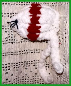 Kitty CATNIP Toy Plush RED White Organic Mouse by TheMaineCoonCat, $4.40