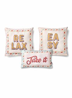 Set 3 Perne Decorative Relax Bed Pillows, Pillow Cases, Relax, Decor, Fairy Houses, Pillows, Decoration, Decorating, Deco