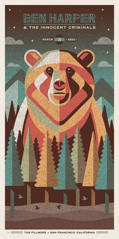Ben Harper & The Innocent Criminals Poster Series by DKNG | Poster Design