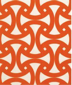 orange graphic pattern Schumacher