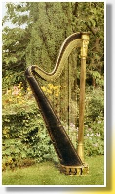 A very pretty harp, would love to play this harp!