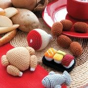 Crochet turkey, meat and more patterns