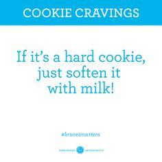 Perhaps Santa's cookies? Braces Food, Braces Tips, Teeth Braces, Braces Problems, Sore Tooth, Ceramic Braces, Getting Braces, Brace Face, Braces Colors