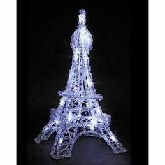Tour Eiffel 20 Led  lumière Fixe H 45 cm - Tour Eiffel 20 Led lumière fixe Blanche.    Magnifique Tour Eiffel à lumière blanche  Structure en métal et acrylique    Stable … Voir la présentation