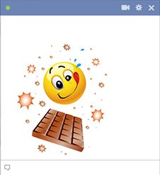 Emoticon and chocolate