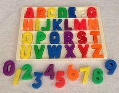Vintage Fisher Price Little People Alphabet letters Tray School #923 Desk #176 #FisherPrice