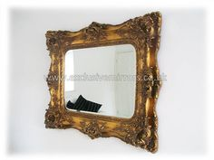 Classic Gold Antique Style Mirror 124 x 104 [EE113] - £224.10 - Mirrors for Every Interior from Exclusive Mirrors