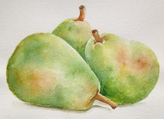watercolor pear | Original watercolor painting 'pears'kitchen decor by SuayaArt, $55.00