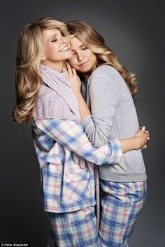 Christie Brinkley and Lookalike Daughter Sailor Brinkley Cook Star in New Advertising Campaign. How adorable do they look in their matching mother daughter pajamas?