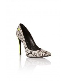 Philipp Plein - Reptilia Yellow High Heels