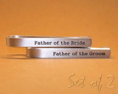 Custom Personalized Tie Bars Father of the Bride Gift by MyTieBar