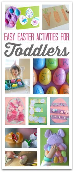 Some of these Easter crafts are so simple but so cute for toddlers. Great Easter ideas.