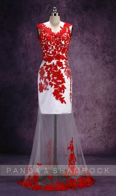 Lanfen/wedding gown/bridal dress/bride/custom by pandaandshamrock, $330.00