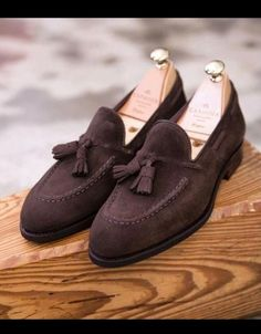 Custom Handmade Casual Chocolatey Suede Formal Tassels Loafer Slips On Shoes Trending Occasion Shoes sold by Mr.Leather on Storenvy Slip On Shoes, Men's Shoes, Shoe Boots, Dress Shoes, Shoes Men, Gentleman Shoes, Occasion Shoes, Tassel Loafers, Loafers Men