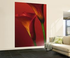 Red Calla Lilies Huge Wall Mural Art Print Poster Behangposter